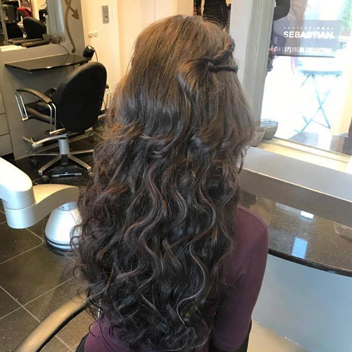 Haarverlängerung Kundin 1 nachher
